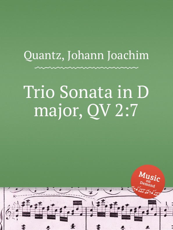 цена J.J. Quantz Trio Sonata in D major, QV 2:7 в интернет-магазинах