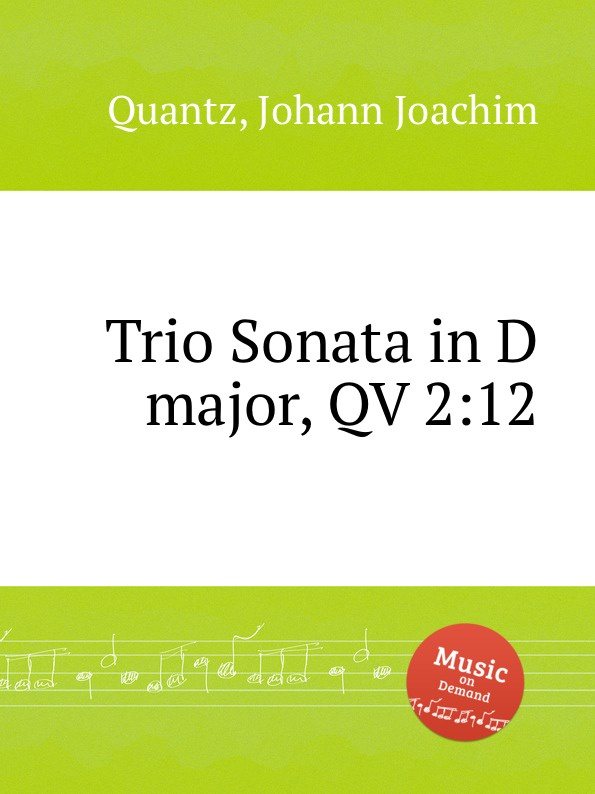 цена J.J. Quantz Trio Sonata in D major, QV 2:12 в интернет-магазинах