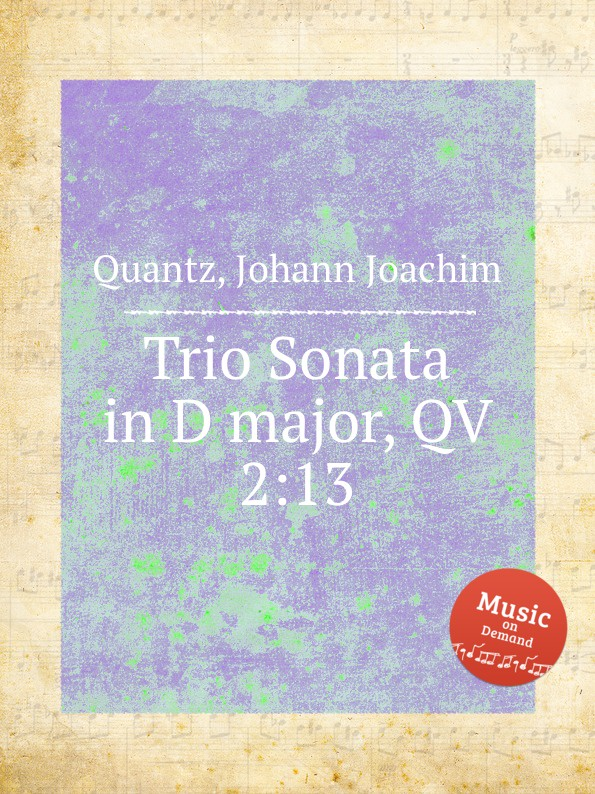 лучшая цена J.J. Quantz Trio Sonata in D major, QV 2:13