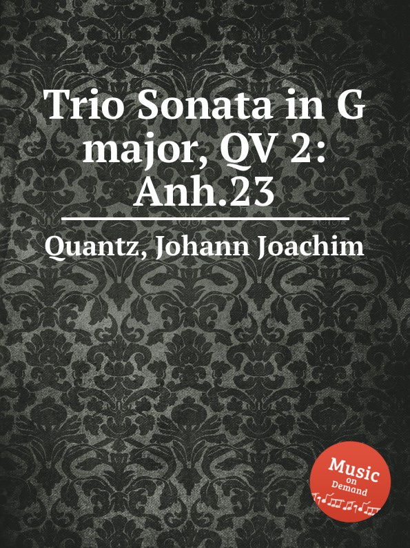 цена J.J. Quantz Trio Sonata in G major, QV 2:Anh.23 в интернет-магазинах