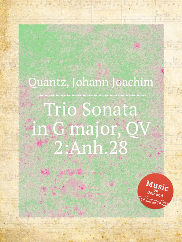 цена J.J. Quantz Trio Sonata in G major, QV 2:Anh.28 в интернет-магазинах