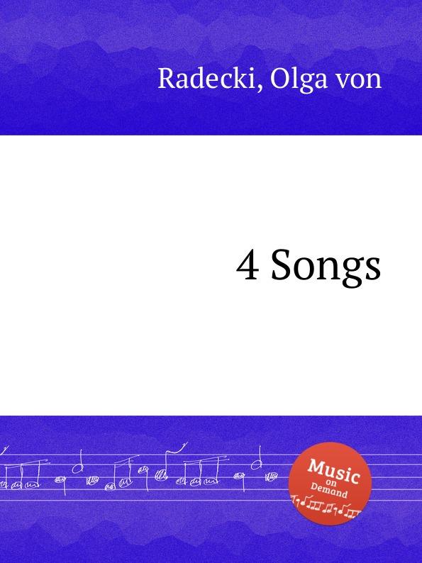 O. von Radecki 4 Songs o von radecki 4 songs