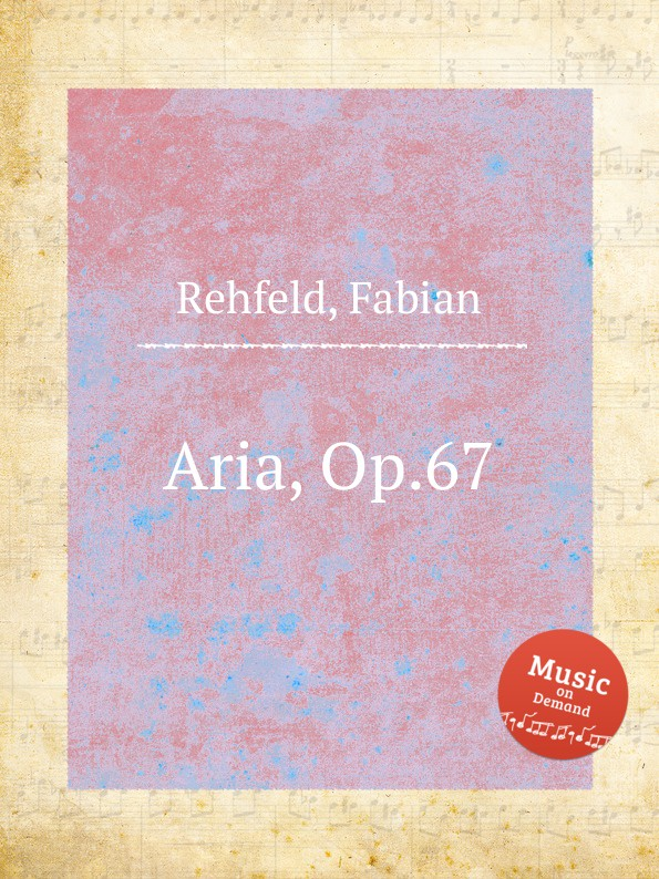 F. Rehfeld Aria, Op.67 d zipoli aria for cello and piano