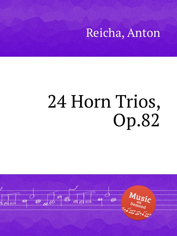 A. Reicha 24 Horn Trios, Op.82 mymei outdoor 90db ring alarm loud horn aluminum bicycle bike safety handlebar bell