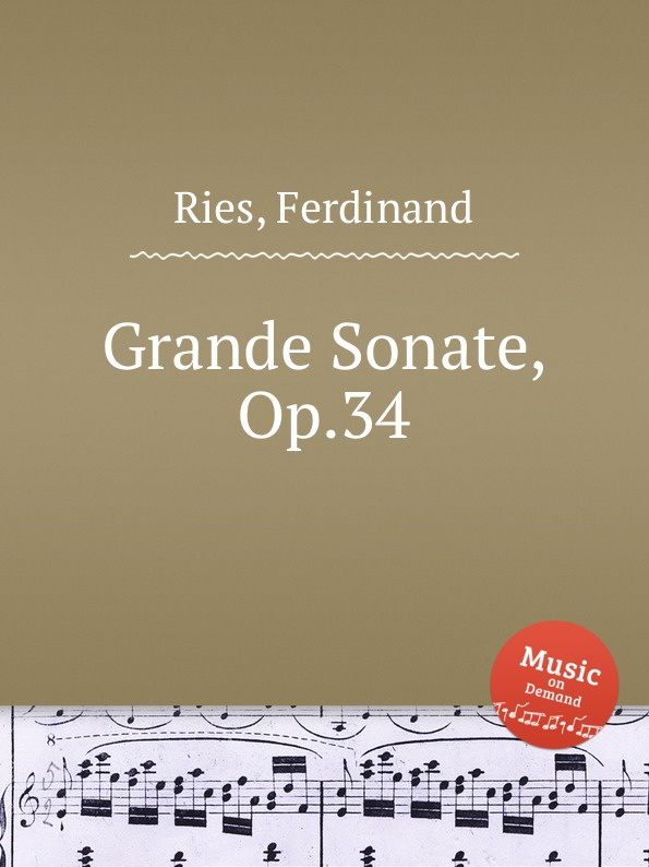 F. Ries Grande Sonate, Op.34 f neruda gavotte for cello op 54
