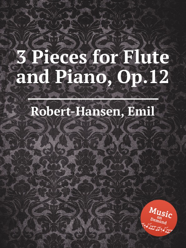 E. Robert-Hansen 3 Pieces for Flute and Piano, Op.12 traditional handcrafted bamboo flute with flute diaphragm and soft pouch e key