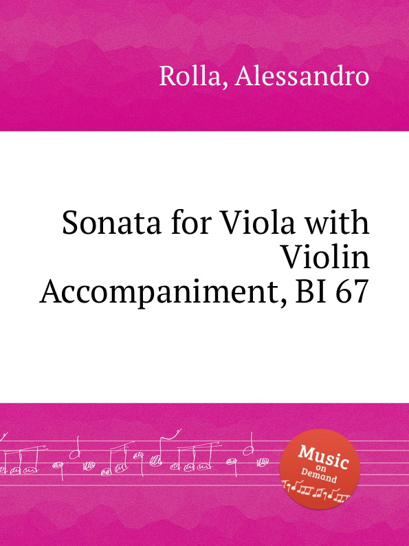 A. Rolla Sonata for Viola with Violin Accompaniment, BI 67 vland car head lamp for sonata led headlight 2012 2015 with angel eyes hid h7 bi xenon plug and play