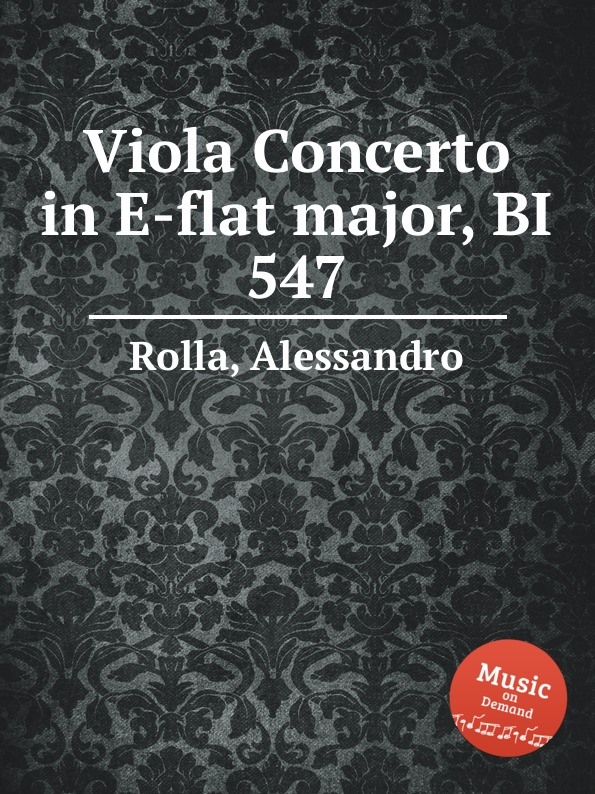 A. Rolla Viola Concerto in E-flat major, BI 547