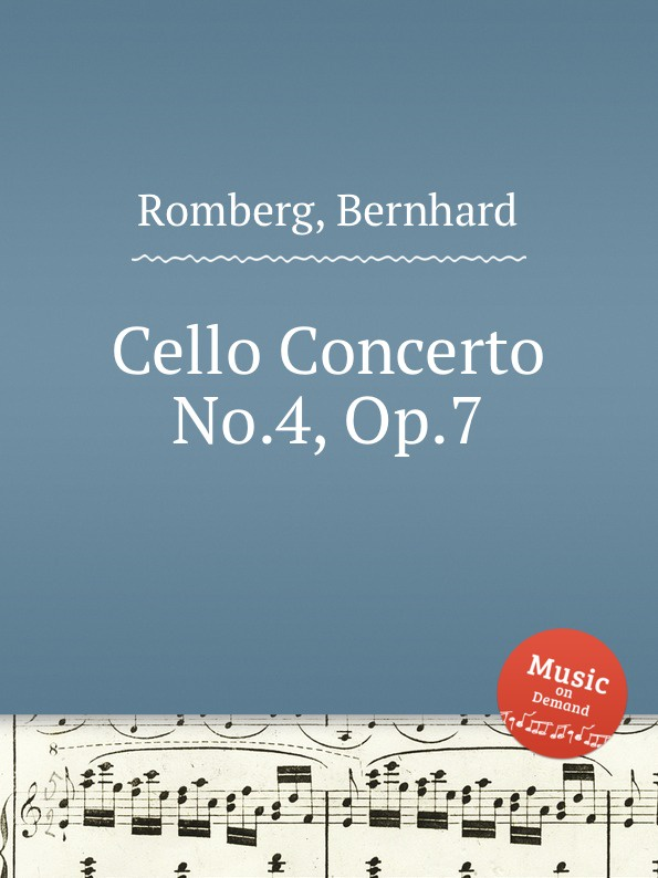 B. Romberg Cello Concerto No.4, Op.7 f neruda cello concerto no 4 op 61