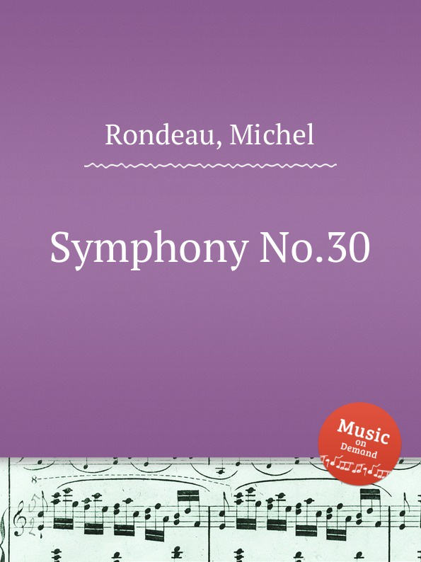 M. Rondeau Symphony No.30 m rondeau symphony no 27