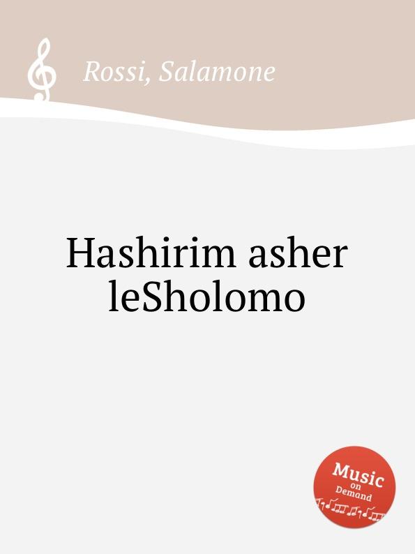 S. Rossi Hashirim asher leSholomo voices