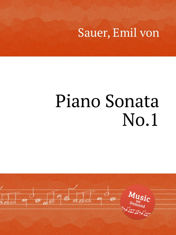 E. von Sauer Piano Sonata No.1 недорого