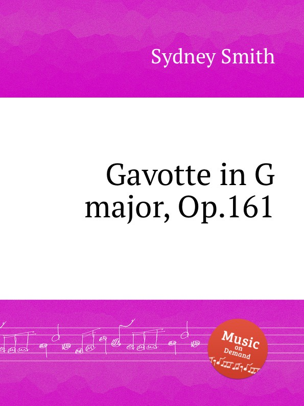 S. Smith Gavotte in G major, Op.161 f neruda gavotte for cello op 54