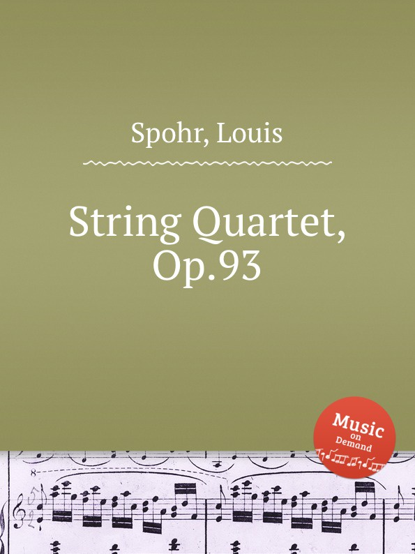 лучшая цена L. Spohr String Quartet, Op.93