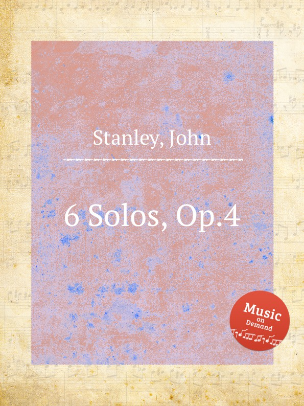 цена J. Stanley 6 Solos, Op.4 в интернет-магазинах