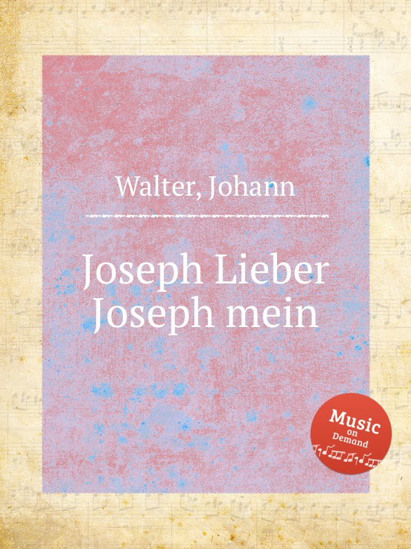 J. Walter Joseph Lieber Joseph mein недорого