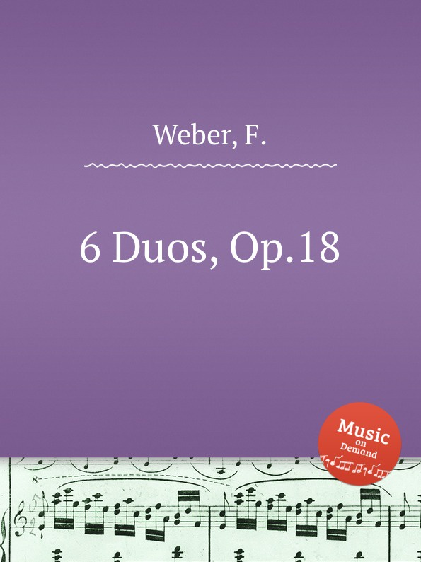 F. Weber 6 Duos, Op.18 f neruda gavotte for cello op 54