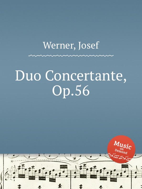 J. Werner Duo Concertante, Op.56 j werner practical method for violoncello op 12