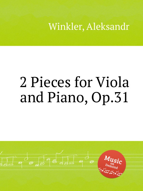 A. Winkler 2 Pieces for Viola and Piano, Op.31