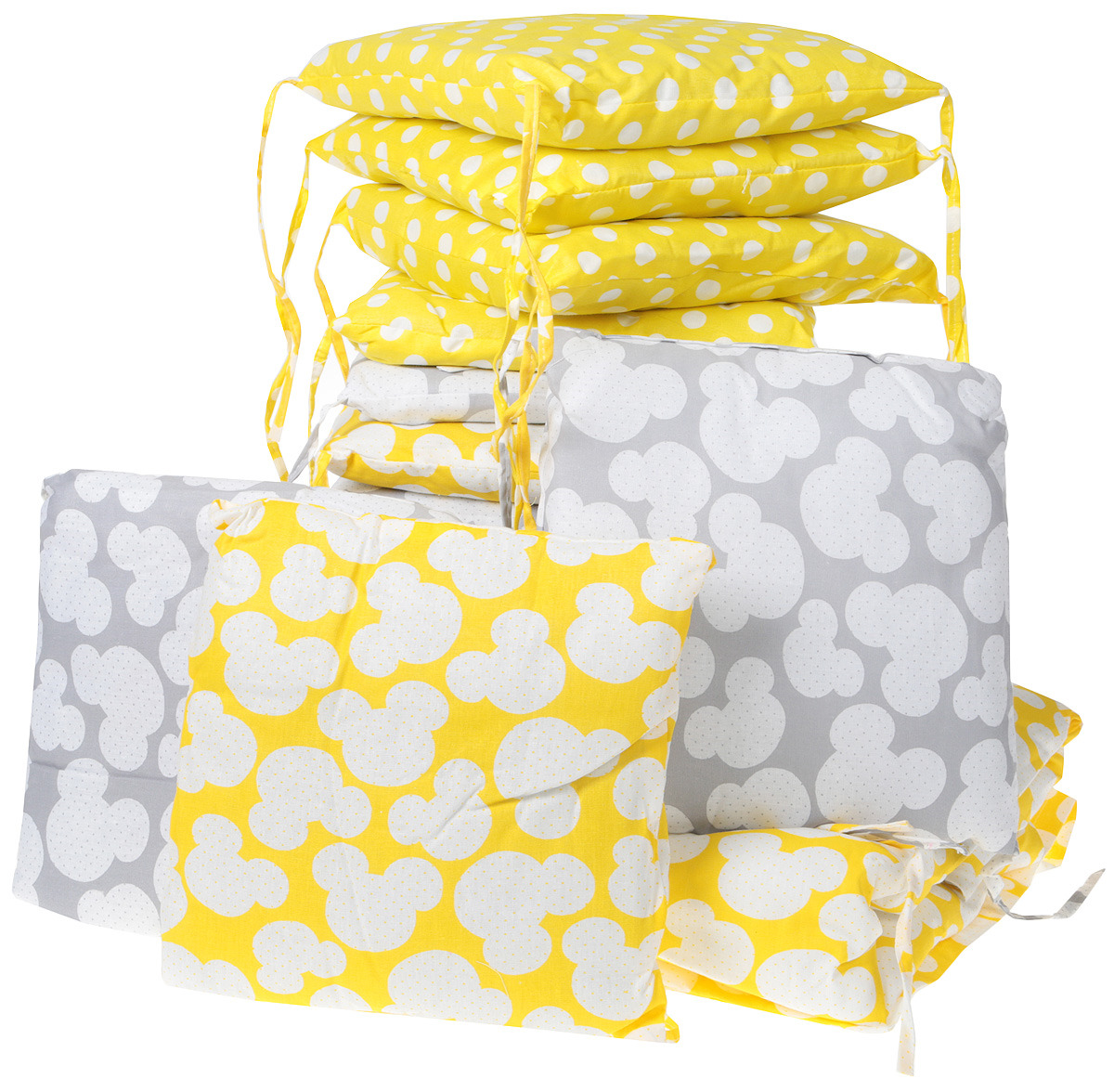 Комплект в кроватку Sweet Baby Tenero, 411968, желтый, серый, 8 предметов