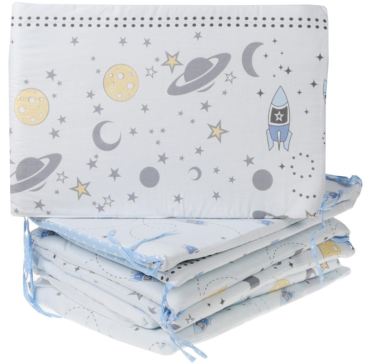 Комплект в кроватку Sweet Baby Cosmo, 412836, голубой, 7 предметов