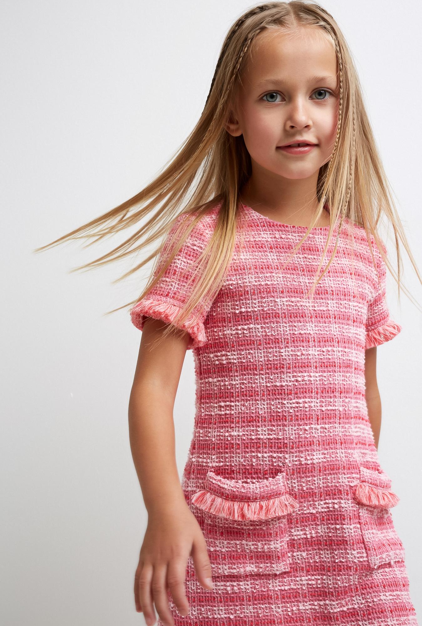 Платье для девочки Acoola Niksa, цвет: розовый. 20220200337_1400. Размер 98 платье для девочки batik цвет розовый ds0106 4 размер 98