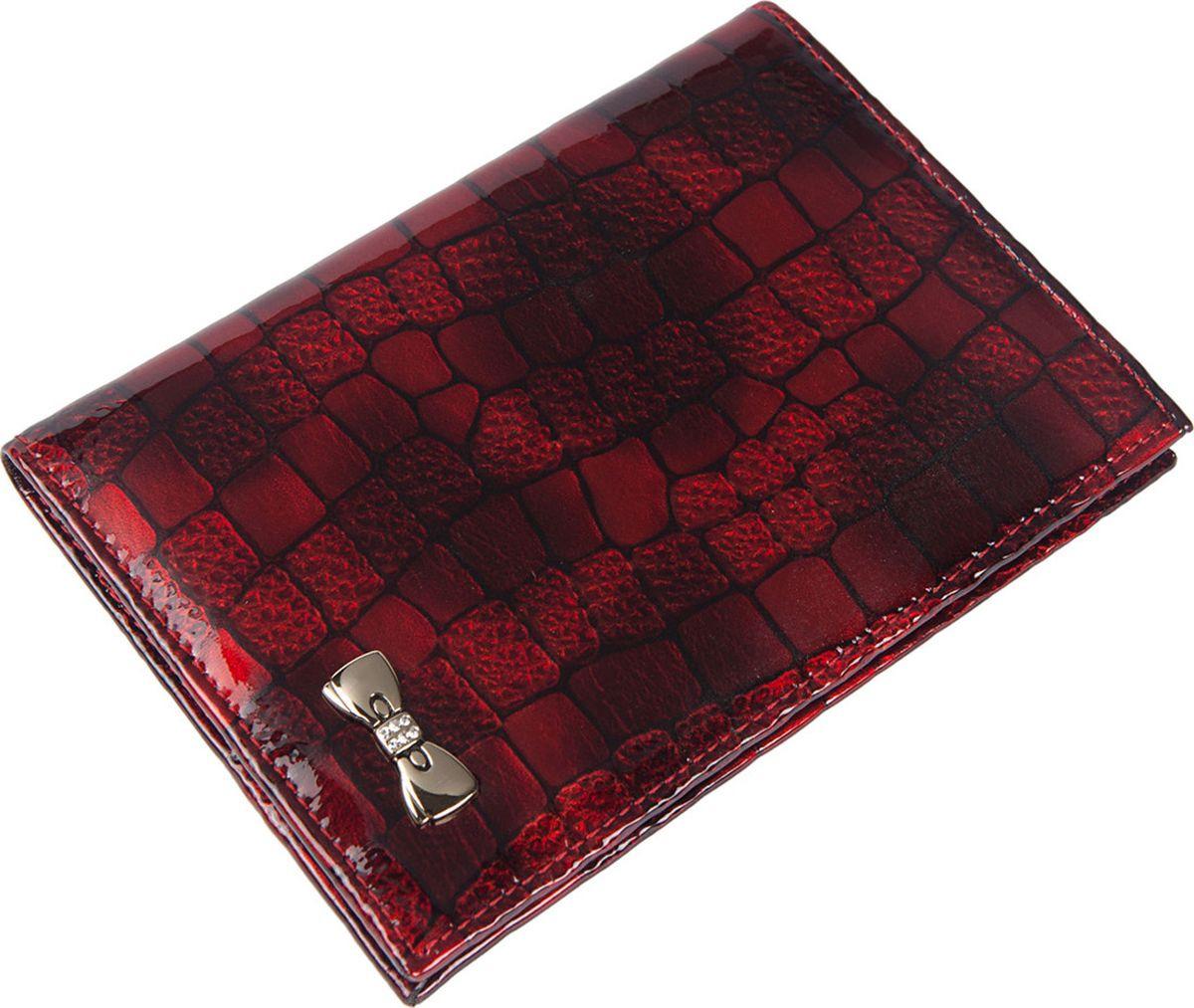 Обложка для документов женская Labbra, L058-1012 red/black, красный цена