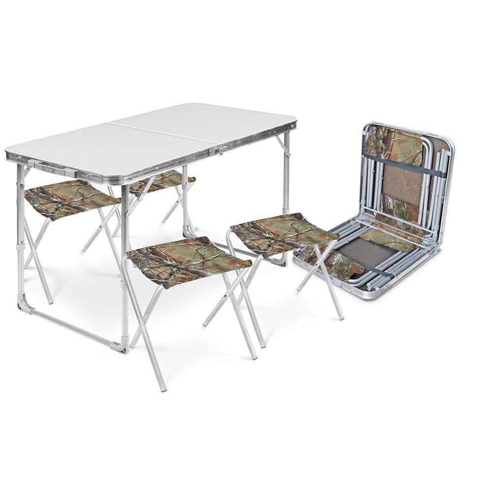 Набор складной мебели Nika ССТ-К2/1 металлик, белый, зеленый, серебристый