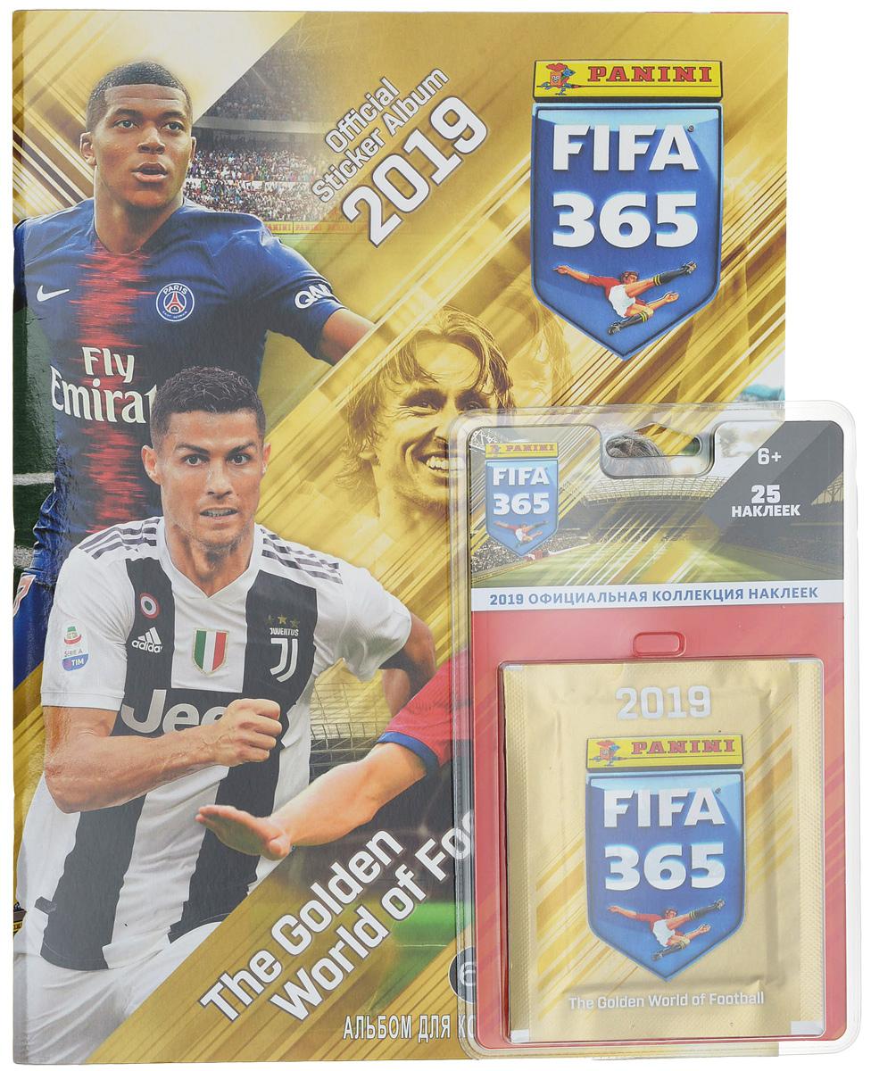 Альбом для наклеек Panini FIFA 365-2019 + Блистер (набор из 5 пакетиков наклеек) набор наклеек 7 пакетиков fifa 365 2018