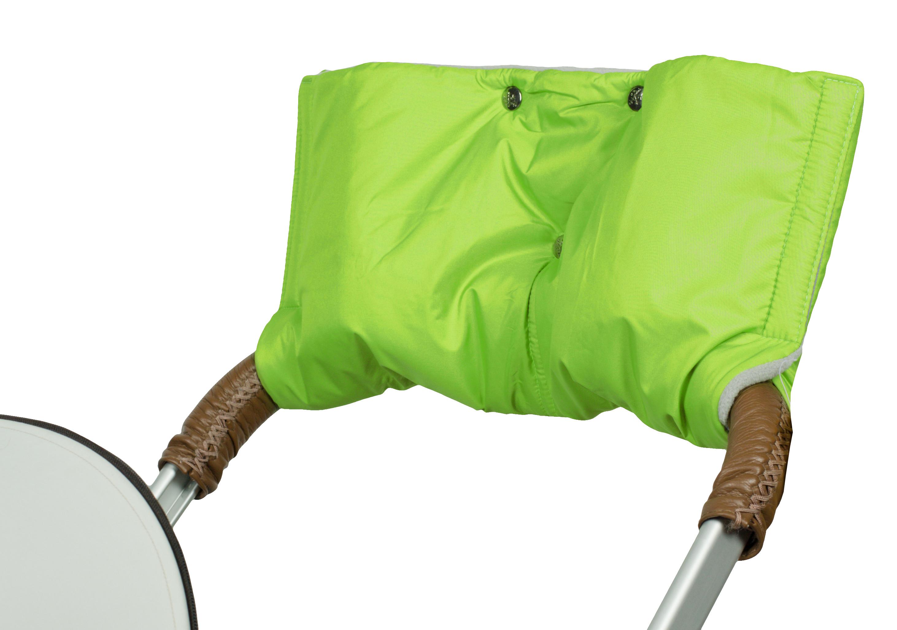 Аксессуар для колясок Чудо-Чадо Муфта для рук на коляску флисовая (на липучке), МКФ04-001 зеленый муфта tigger warmhands на ручку коляски