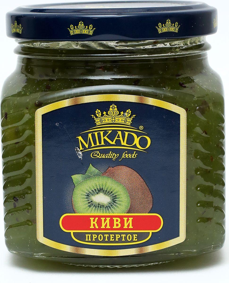 Ягоды перетертые Mikado Киви с сахаром, 320 г черника экопродукт с сахаром 320 г