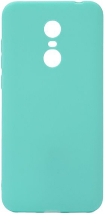 Чехол для сотового телефона GOSSO CASES для Xiaomi Redmi 5 Plus Soft Touch, 187872, бирюзовый