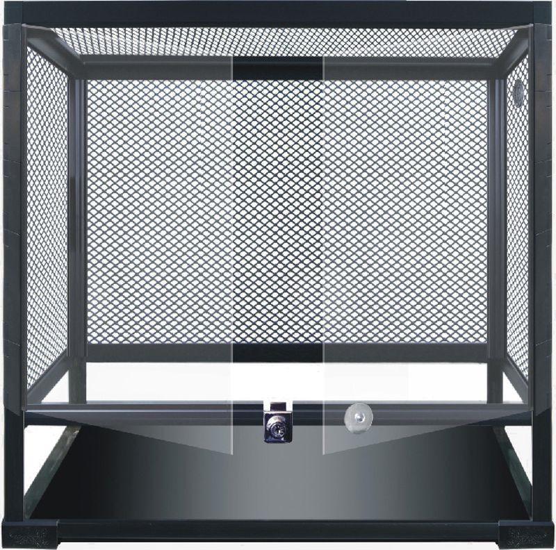 Террариум Repti-Zoo 0109RKN 40 х 40 х 60 см, 83605003, черный коврик repti zoo с подогревом без терморегулятора 40вт 40 60см