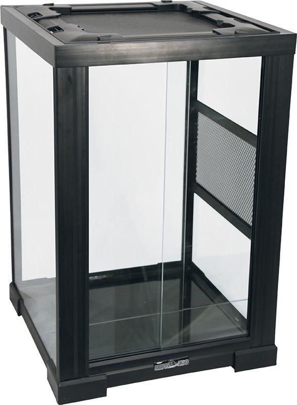 Террариум Repti-Zoo 2802RH 40 х 40 х 60 см, 83625002, черный коврик repti zoo с подогревом без терморегулятора 40вт 40 60см