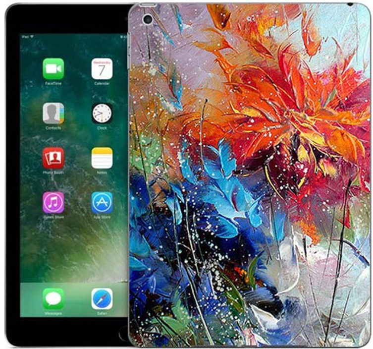 Чехол для сотового телефона GOSSO CASES для Apple iPad 9.7 (2017) с принтом, 187783, оранжевый