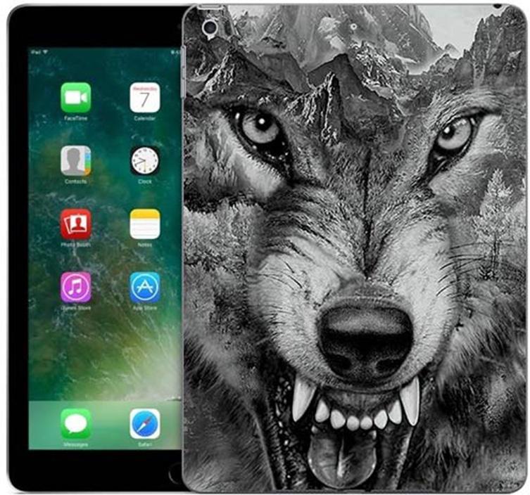 Чехол для сотового телефона GOSSO CASES для Apple iPad 9.7 (2017) с принтом, 187784, серый