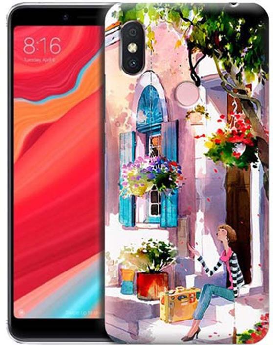 Чехол для сотового телефона GOSSO CASES для Xiaomi Redmi S2 с принтом, 191802, розовый