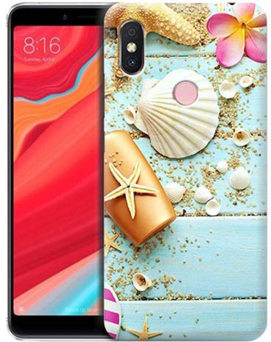 Чехол для сотового телефона GOSSO CASES для Xiaomi Redmi S2 с принтом, 191804, голубой
