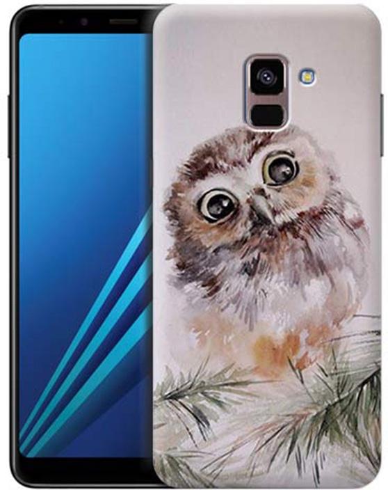 Чехол для сотового телефона GOSSO CASES для Samsung Galaxy A8+ (2018) с принтом, 197804, серый