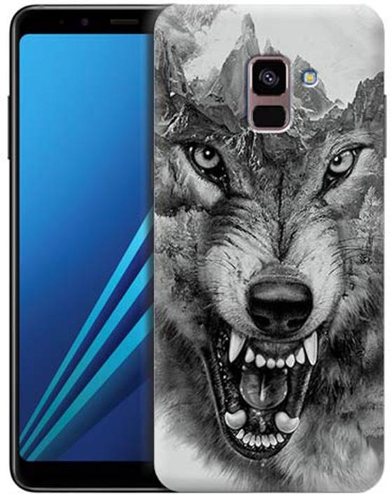 Чехол для сотового телефона GOSSO CASES для Samsung Galaxy A8+ (2018) с принтом, 197808, серый