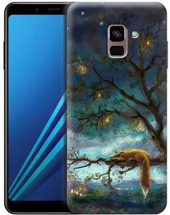 Чехол для сотового телефона GOSSO CASES для Samsung Galaxy A8+ (2018) с принтом, 197809, темно-синий