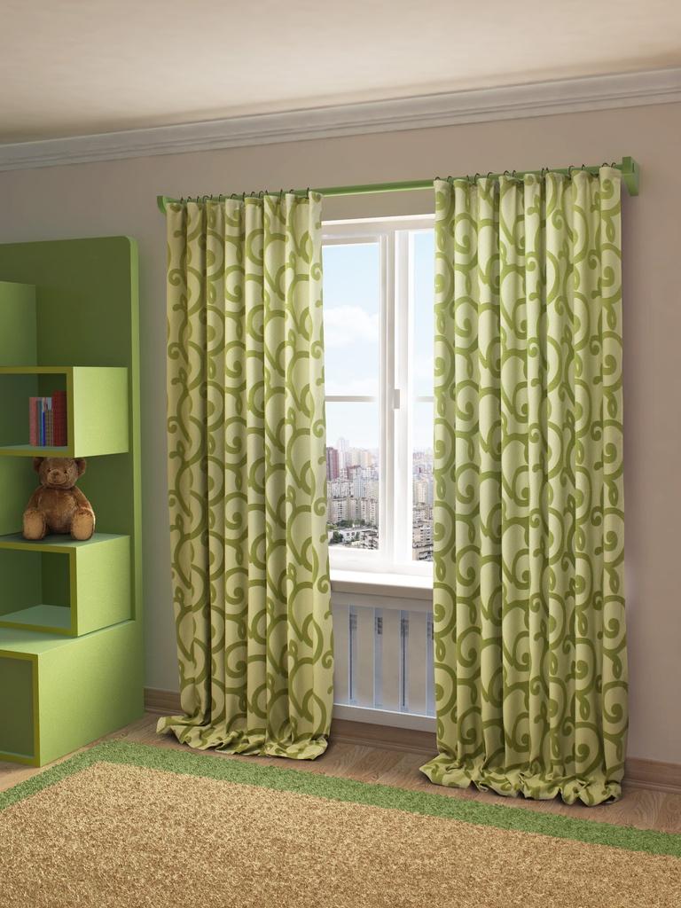 Штора Sanpa Home Collection HP80155/8/1Е Реджина зеленый, 200*280 см, зеленый штора quelle heine home 6533 4 в ш ок 245x135 см