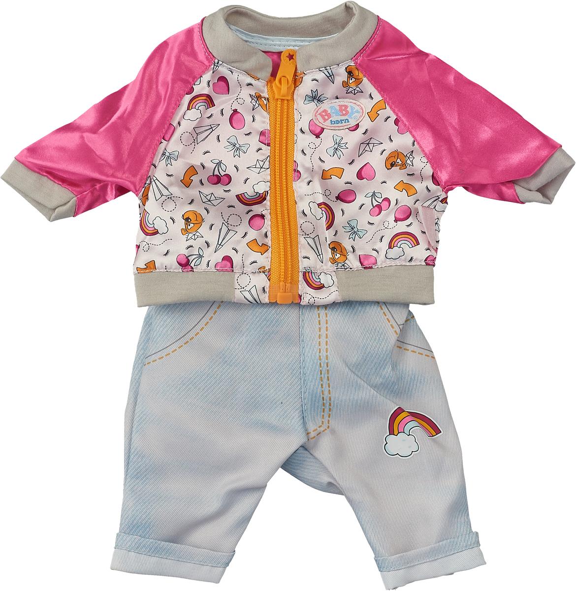 Одежда для куклы Zapf Creation BABY born, 824-542_куртка розовая, штаны голубые