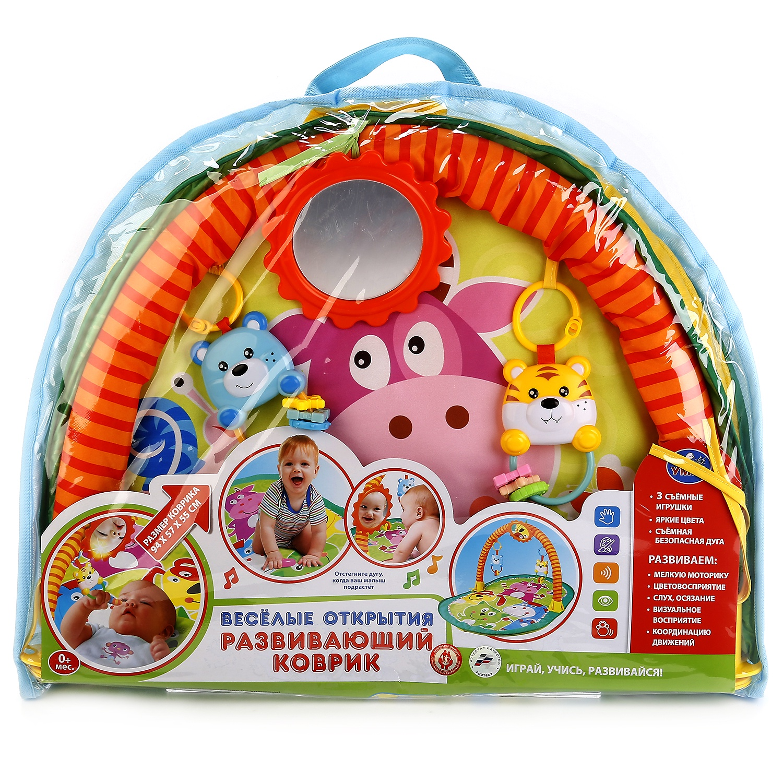 Фото - КОВРИК ДЕТСКИЙ, УМКА, прямоугольный с дугой для новорожденных Веселые открытия игрушки для новорождённых