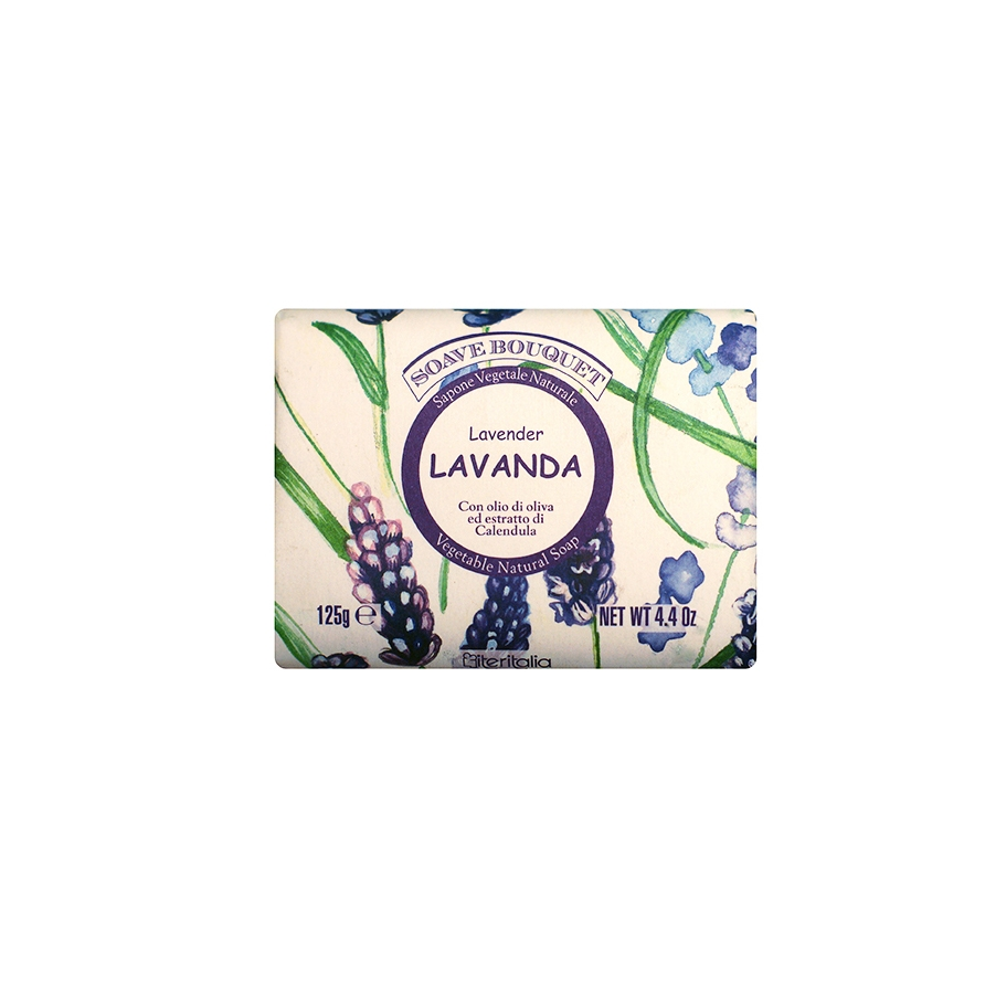 Мыло туалетное Iteritalia Косметическое натуральное747Высококачественное натуральное растительное мыло, обогащенное оливковым маслом и экстрактом цветов календулы, которое обладает питательным, увлажняющим, успокаивающим и смягчающим действием. Мягкое мыло делает кожу гладкой и бархатистой и имеет изысканный запах лилии.