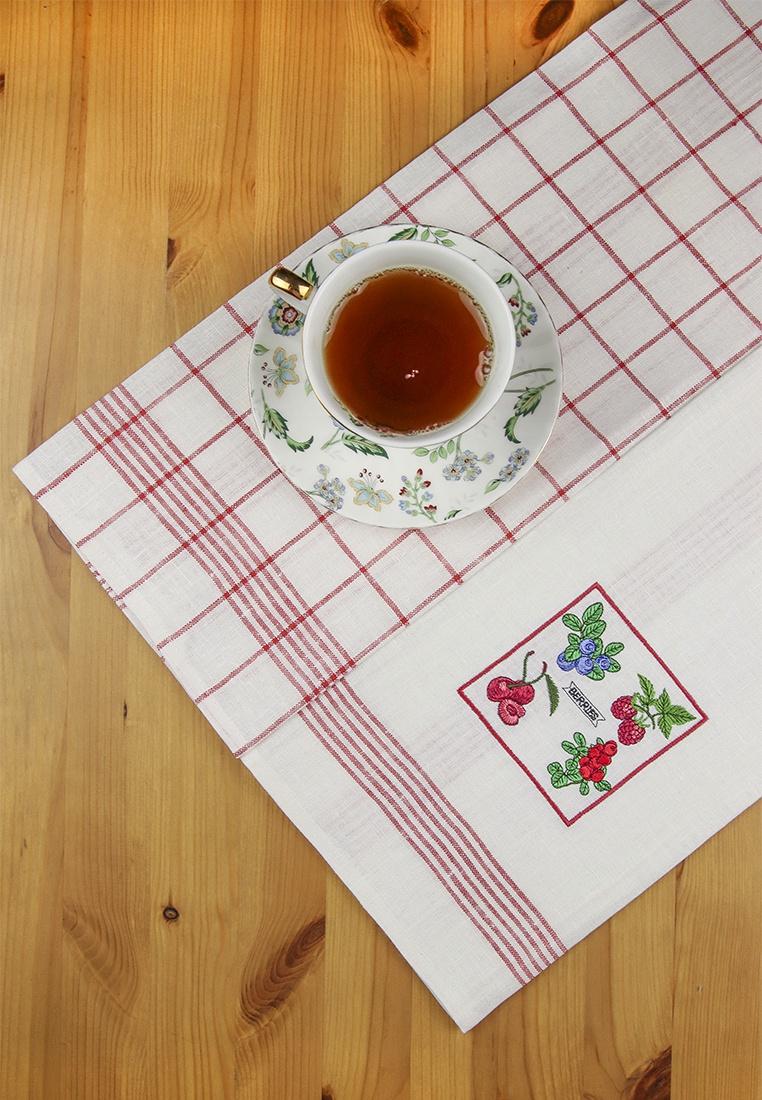 Набор кухонных полотенец Arloni рисунок в клетку, вышивка, 5090.1