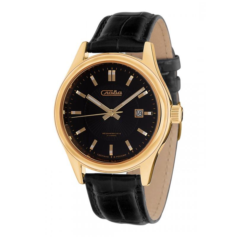 Часы Слава Премьер, 1369607/300-2414, черный все цены