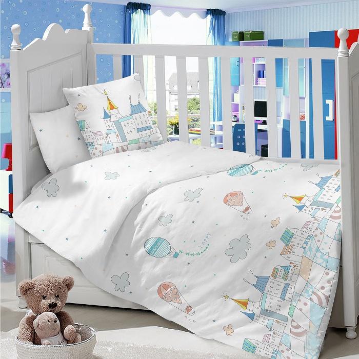 Комплект в кроватку LIMETIME Комплект в кроватку, простыня на резинке, LT1000-71, белый