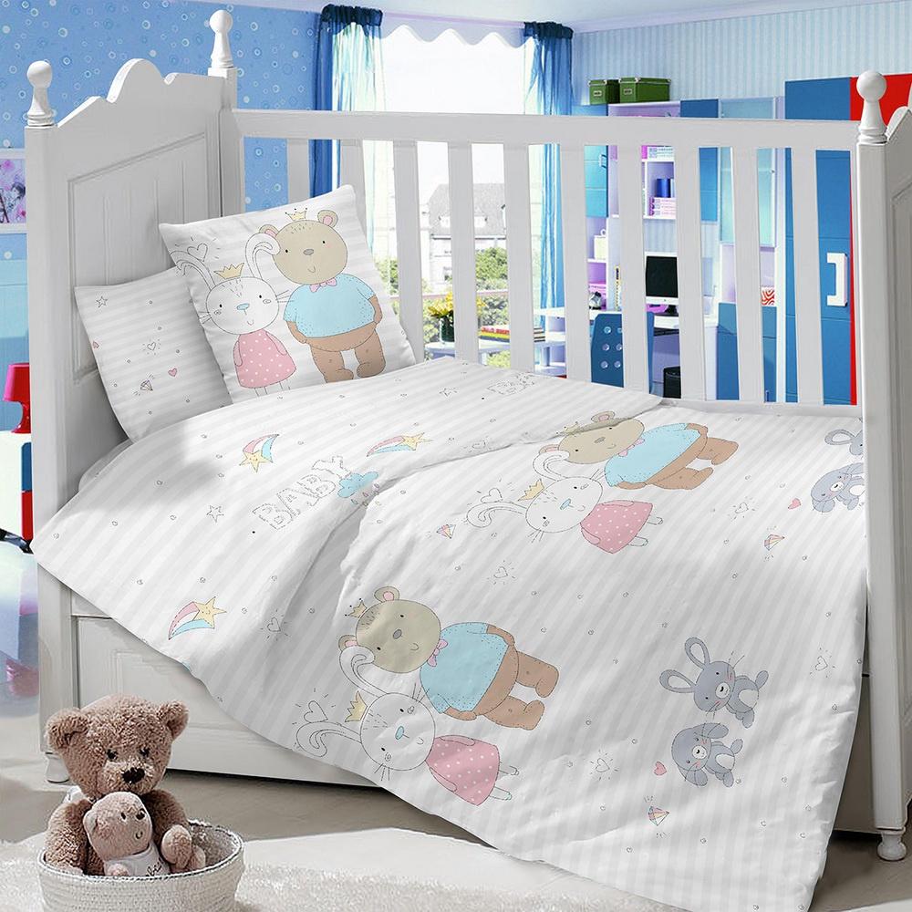 Комплект в кроватку LIMETIME Комплект в кроватку, простыня на резинке, LT1000-85, серый