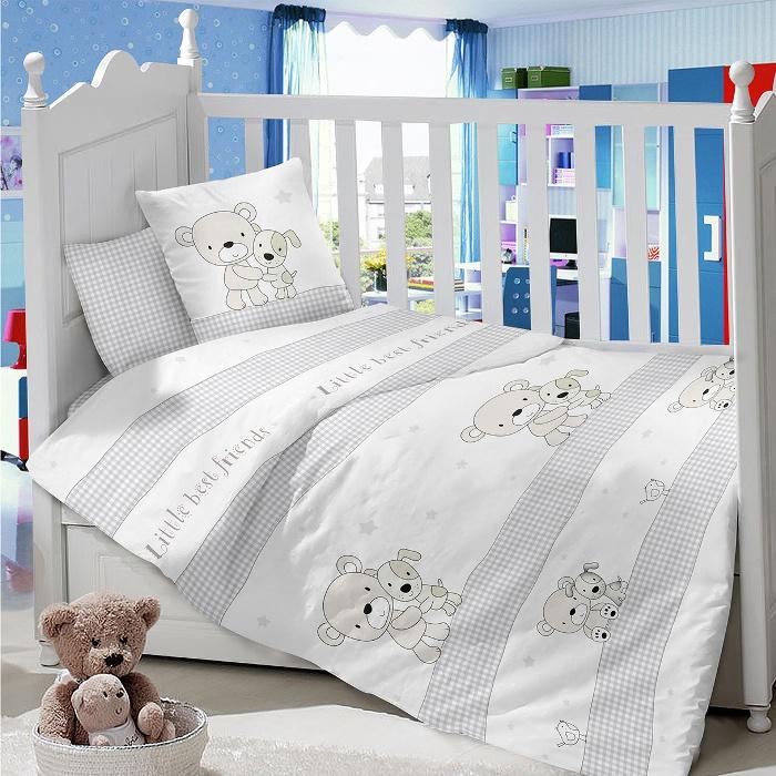 Комплект в кроватку LIMETIME Комплект в кроватку, простыня на резинке, LT1000-80, белый